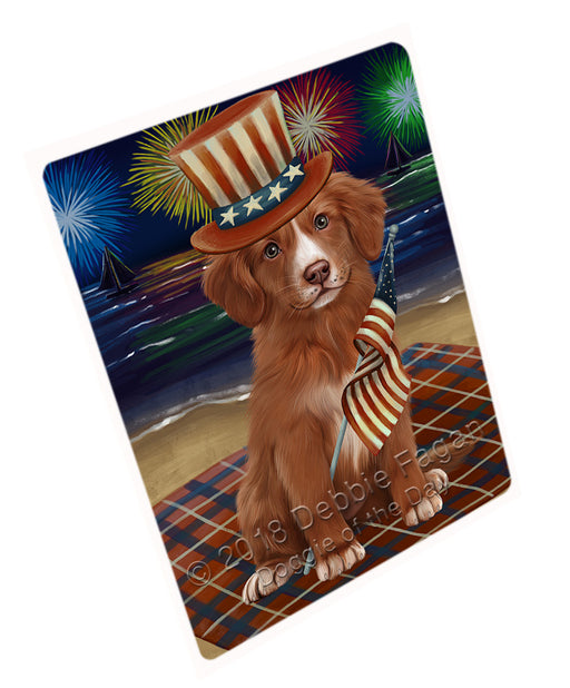 4th of July Independence Day Firework Nova Scotia Duck Toller Retriever Dog Large Refrigerator / Dishwasher Magnet RMAG104076