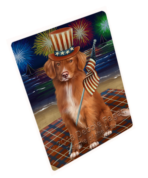 4th of July Independence Day Firework Nova Scotia Duck Toller Retriever Dog Large Refrigerator / Dishwasher Magnet RMAG104082