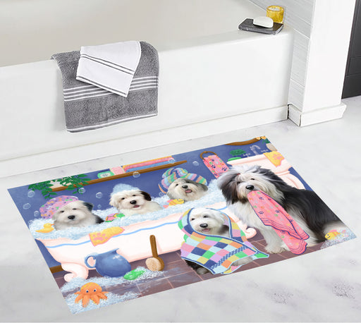 Rub A Dub Dogs In A Tub Old English Sheepdogs Bath Mat
