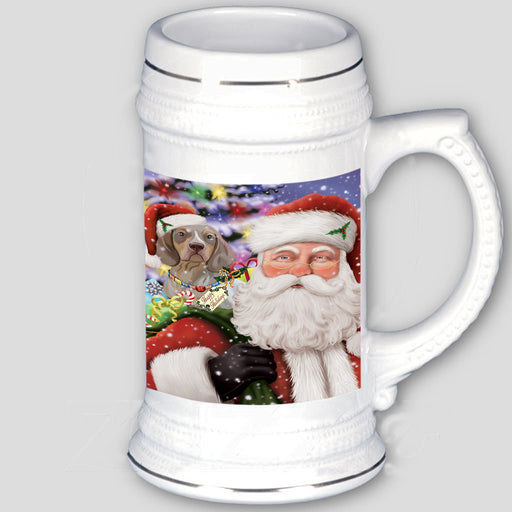 Santa Carrying Pachon Navarro Dog and Christmas Presents Beer Stein BST56611
