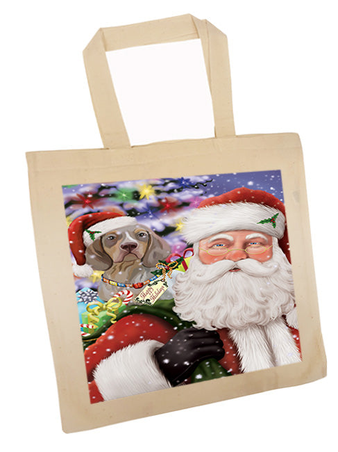 Santa Carrying Pachon Navarro Dog and Christmas Presents Tote TTE55514