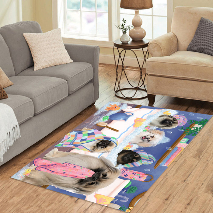 Rub A Dub Dogs In A Tub Pekingese Dogs Area Rug