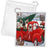 Christmas Santa Express Delivery Red Truck Pekingese Dogs Drawstring Laundry or Gift Bag LGB48325