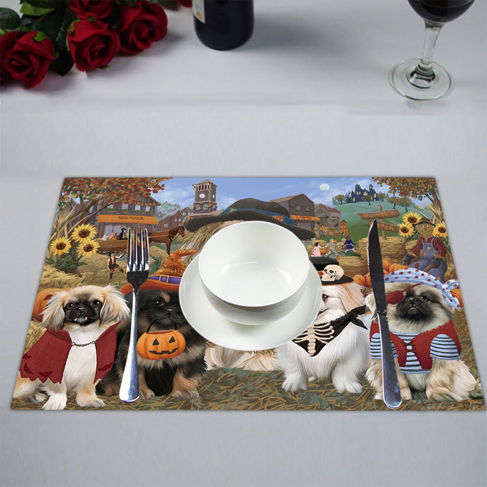 Halloween 'Round Town Pekingese Dogs Placemat