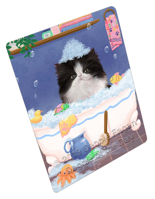 Rub A Dub Dog In A Tub Persian Cat Dog Refrigerator / Dishwasher Magnet RMAG109410