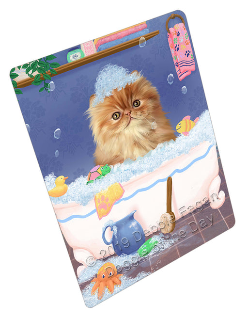 Rub A Dub Dog In A Tub Persian Cat Dog Refrigerator / Dishwasher Magnet RMAG109416