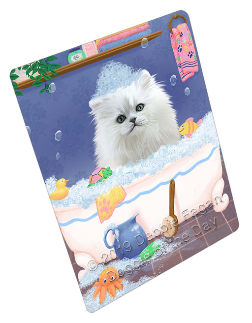 Rub A Dub Dog In A Tub Persian Cat Dog Refrigerator / Dishwasher Magnet RMAG109422