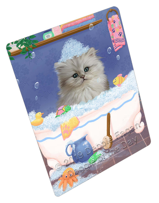 Rub A Dub Dog In A Tub Persian Cat Dog Refrigerator / Dishwasher Magnet RMAG109428
