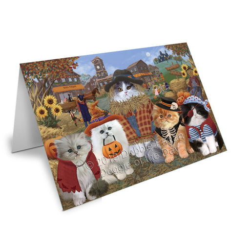 Halloween 'Round Town Persian Cats Note Card NCD77891