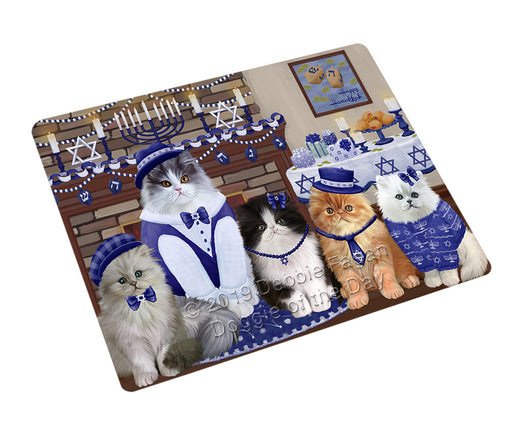 Happy Hanukkah Family Persian Cats Refrigerator / Dishwasher Magnet RMAG108180