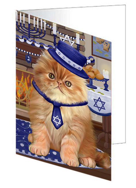 Happy Hanukkah  Persian Cats Note Card NCD79778