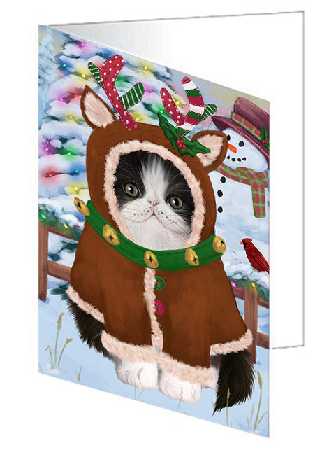 Christmas Gingerbread House Candyfest Persian Cat Note Card NCD73928