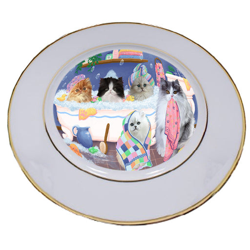 Rub A Dub Dogs In A Tub Persian Cats Porcelain Plate PLT55156