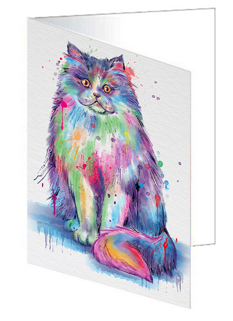 Watercolor Persian Cat Note Card NCD77084