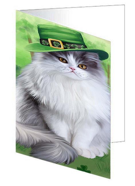 St. Patricks Day Irish Portrait Persian Cat Note Card NCD52034