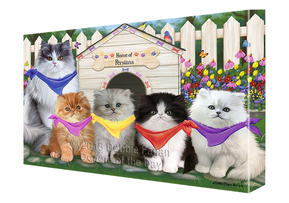 Spring Dog House Persian Cats Canvas Wall Art CVS65095 — Doggie of ...