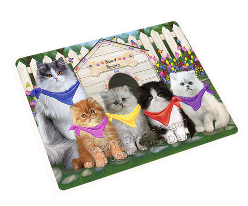 Spring Dog House Persian Cats Large Refrigerator / Dishwasher Magnet RMAG59298