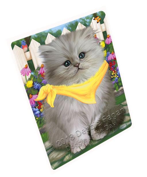 Spring Floral Persian Cat Large Refrigerator / Dishwasher Magnet RMAG59304