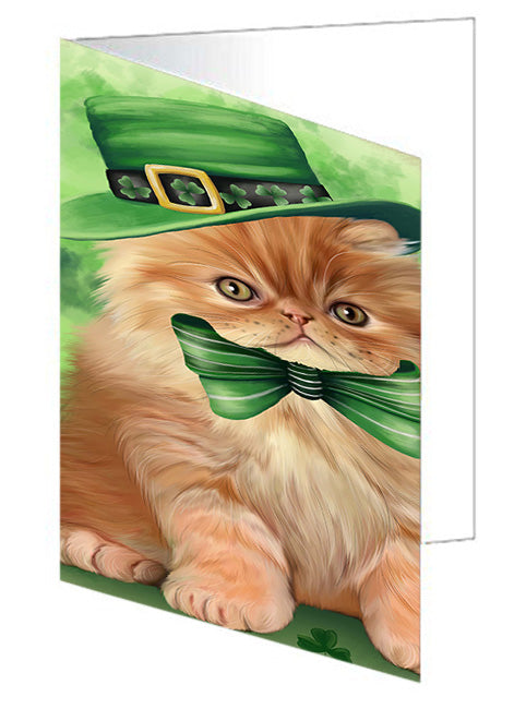 St. Patricks Day Irish Portrait Persian Cat Note Card NCD52040