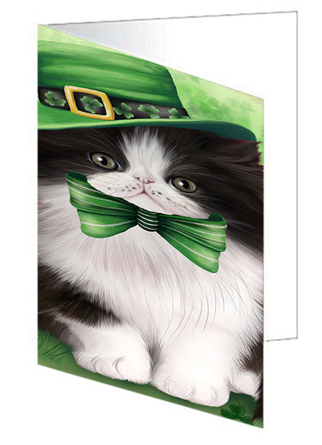 St. Patricks Day Irish Portrait Persian Cat Note Card NCD52043