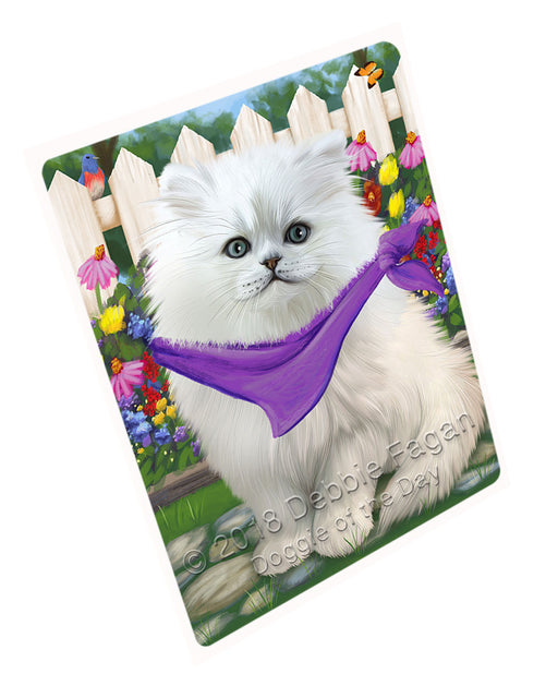 Spring Floral Persian Cat Large Refrigerator / Dishwasher Magnet RMAG59310
