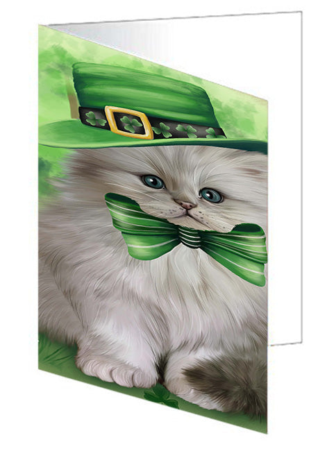 St. Patricks Day Irish Portrait Persian Cat Note Card NCD52046