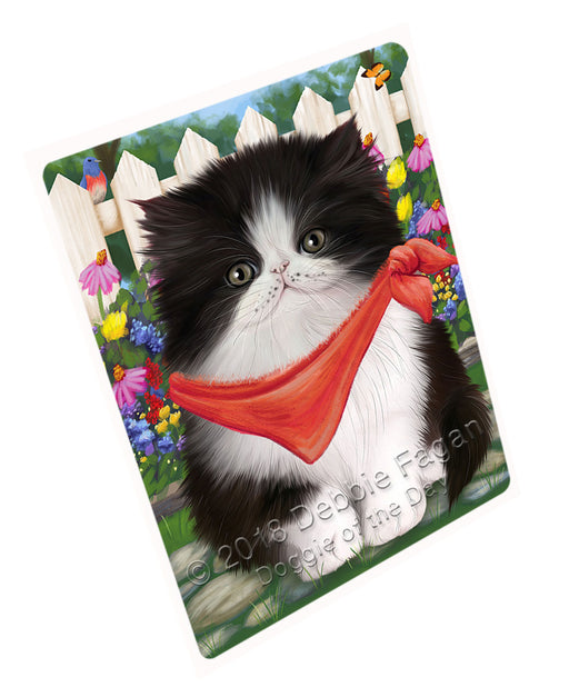 Spring Floral Persian Cat Large Refrigerator / Dishwasher Magnet RMAG59316