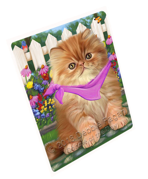 Spring Floral Persian Cat Large Refrigerator / Dishwasher Magnet RMAG59322
