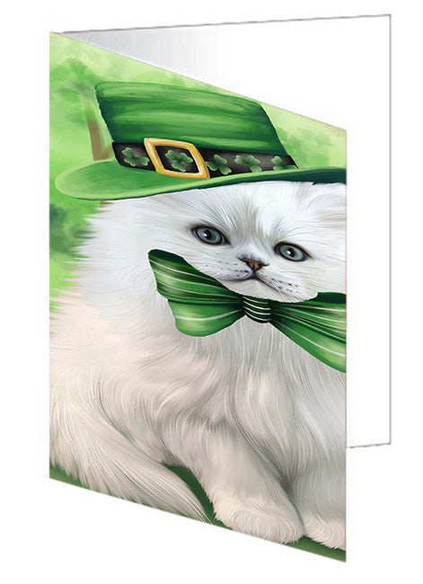 St. Patricks Day Irish Portrait Persian Cat Note Card NCD52049