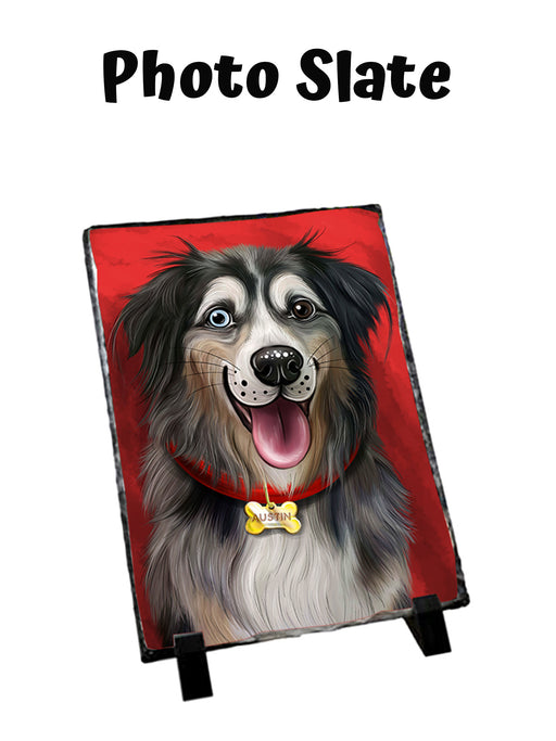 Add Your PERSONALIZED PET Painting Portrait on Sitting Photo Slate