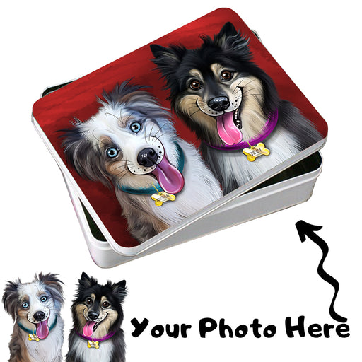Add Your PERSONALIZED PET Painting Portrait Photo on Photo Storage Tin