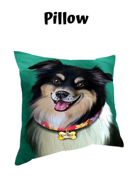 Add Your PERSONALIZED PET Painting Portrait on Pillow