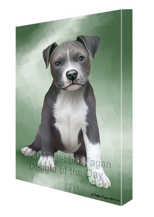 Pet Friendly Beach Pit Bulls Dog Canvas Wall Art CVS53004