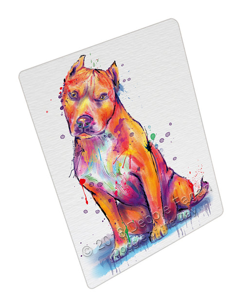 Watercolor Pitbull Dog Refrigerator / Dishwasher Magnet RMAG104976