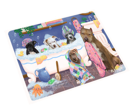 "Rub A Dub Dogs In A Tub Pitbulls Dog Magnet MAG75561 (Mini 3.5"" x 2"")"