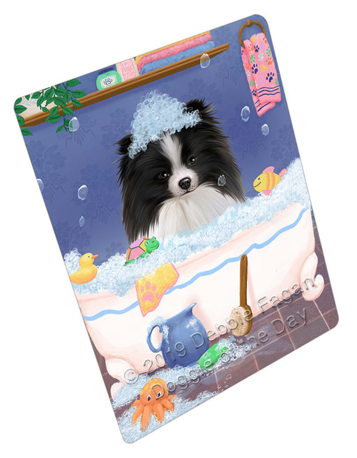 Rub A Dub Dog In A Tub Pomeranian Dog Refrigerator / Dishwasher Magnet RMAG109464