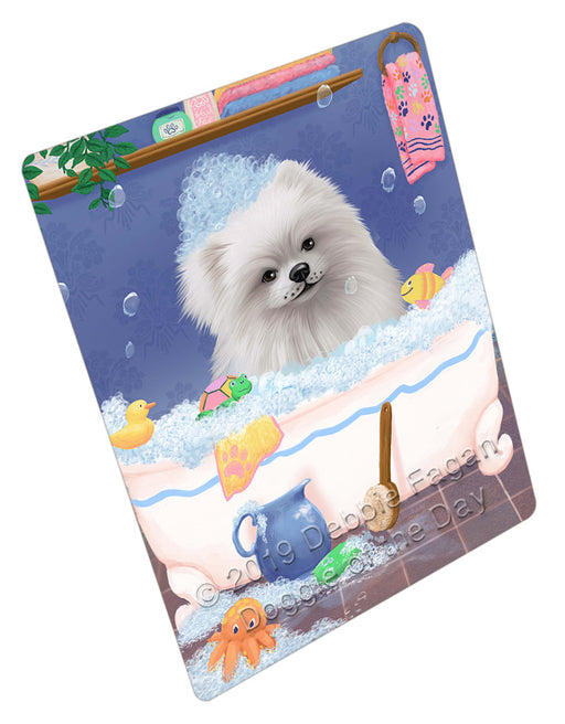 Rub A Dub Dog In A Tub Pomeranian Dog Refrigerator / Dishwasher Magnet RMAG109476