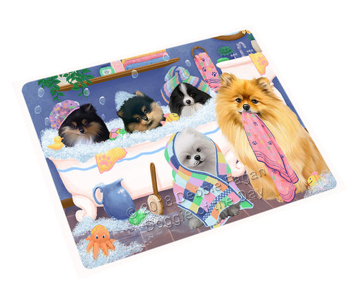Rub A Dub Dogs In A Tub Pomeranians Dog Large Refrigerator / Dishwasher Magnet RMAG103122