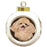 Rustic Poodle Dog Round Ball Christmas Ornament RBPOR54467