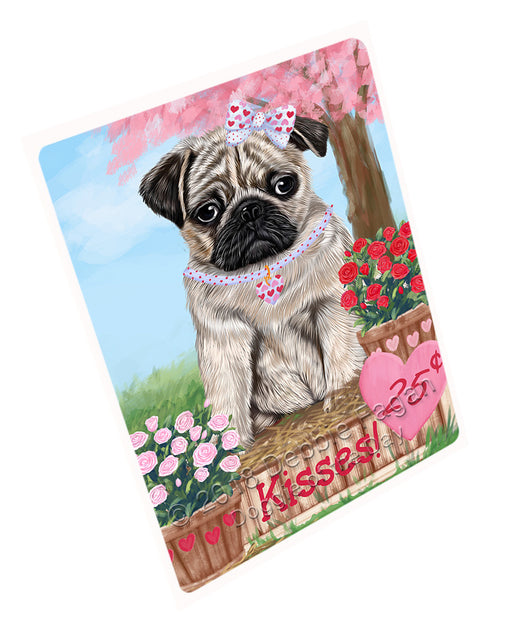 Rosie 25 Cent Kisses Pug Dog Cutting Board C73122