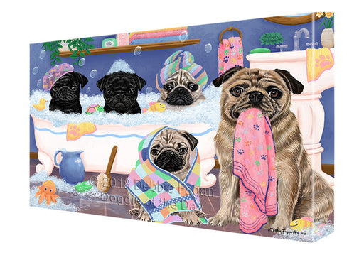 Rub A Dub Dogs In A Tub Pugs Dog Canvas Print Wall Art Décor CVS133523