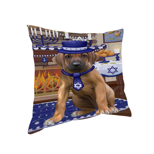 Happy Hanukkah Rhodesian Ridgeback Dog Pillow PIL85492
