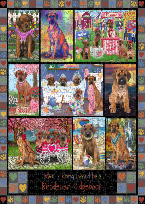 Love is Being Owned Rhodesian Ridgeback Dog Grey Puzzle with Photo Tin PUZL98584