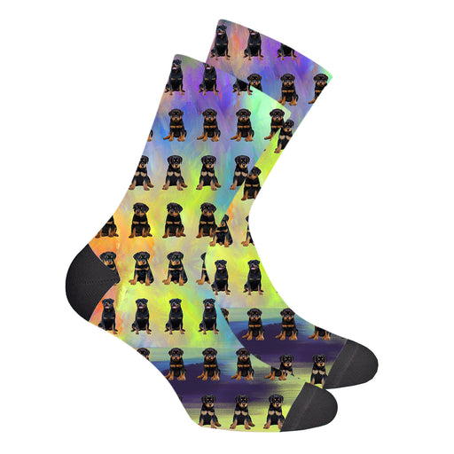 Paradise Wave Rottweiler Dogs Women's Socks