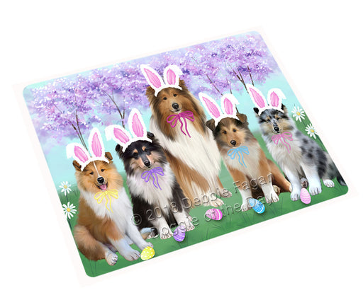 Easter Holiday Rough Collies Dog Cutting Board C75987