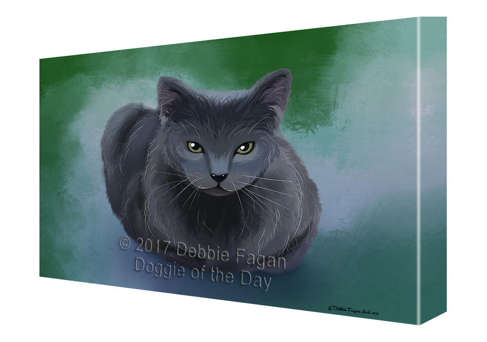 Russian Blue Cat Canvas Wall Art CVS48801