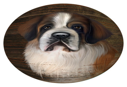 Rustic Saint Bernard Dog Oval Envelope Seals OVE57884