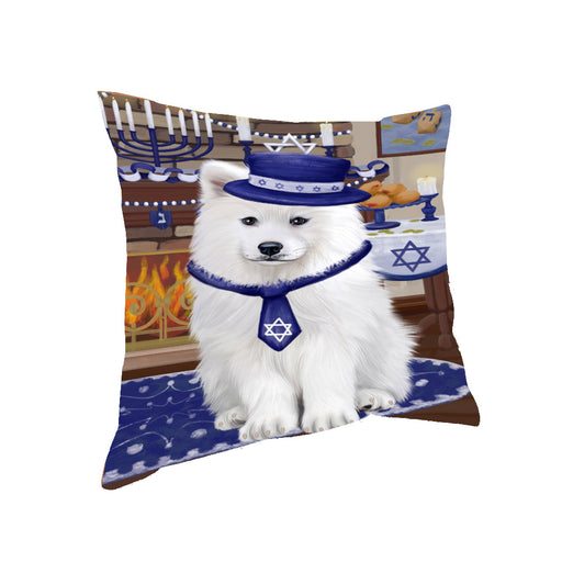 Happy Hanukkah Samoyed Dog Pillow PIL85508