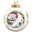 Trotting in the Snow Samoyed Dog Round Ball Christmas Ornament RBPOR54723