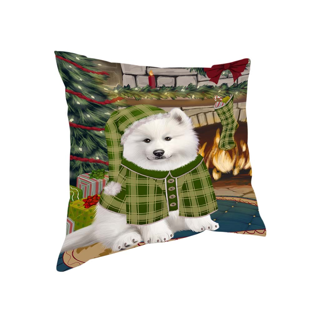 The Stocking was Hung Samoyed Dog Pillow PIL71312